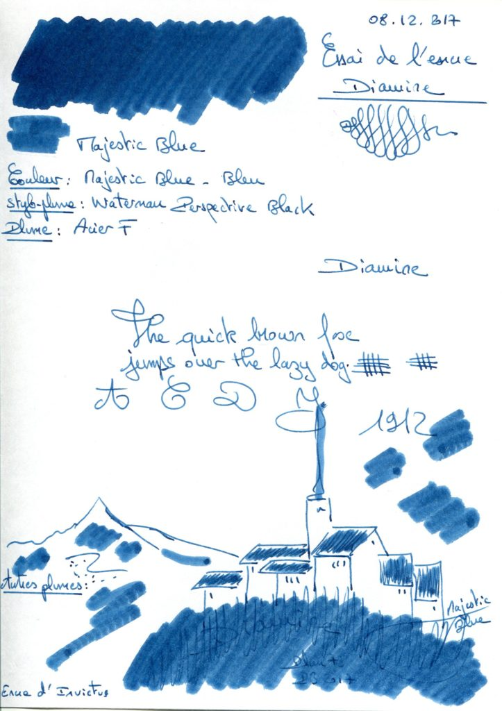 Majestic Blue Ink Diamine