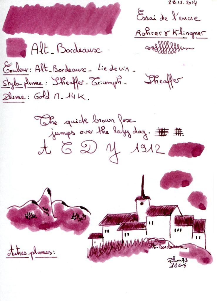 Alt Bordeaux Ink Rohrer Klingner