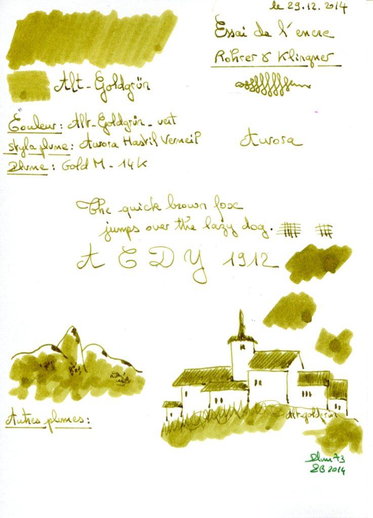 Alt Goldgrun Ink Rohrer Klingner
