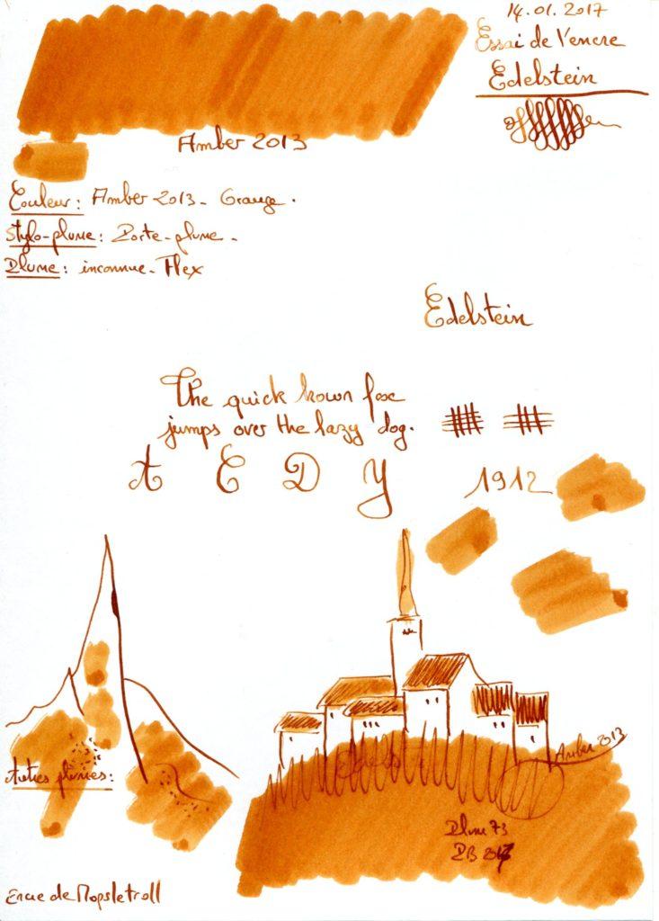 Amber 2013 Ink Edelstein