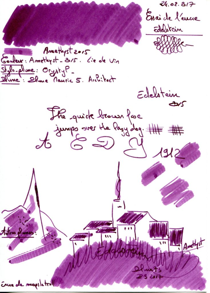 Amethyst 2015 Ink Edelstein
