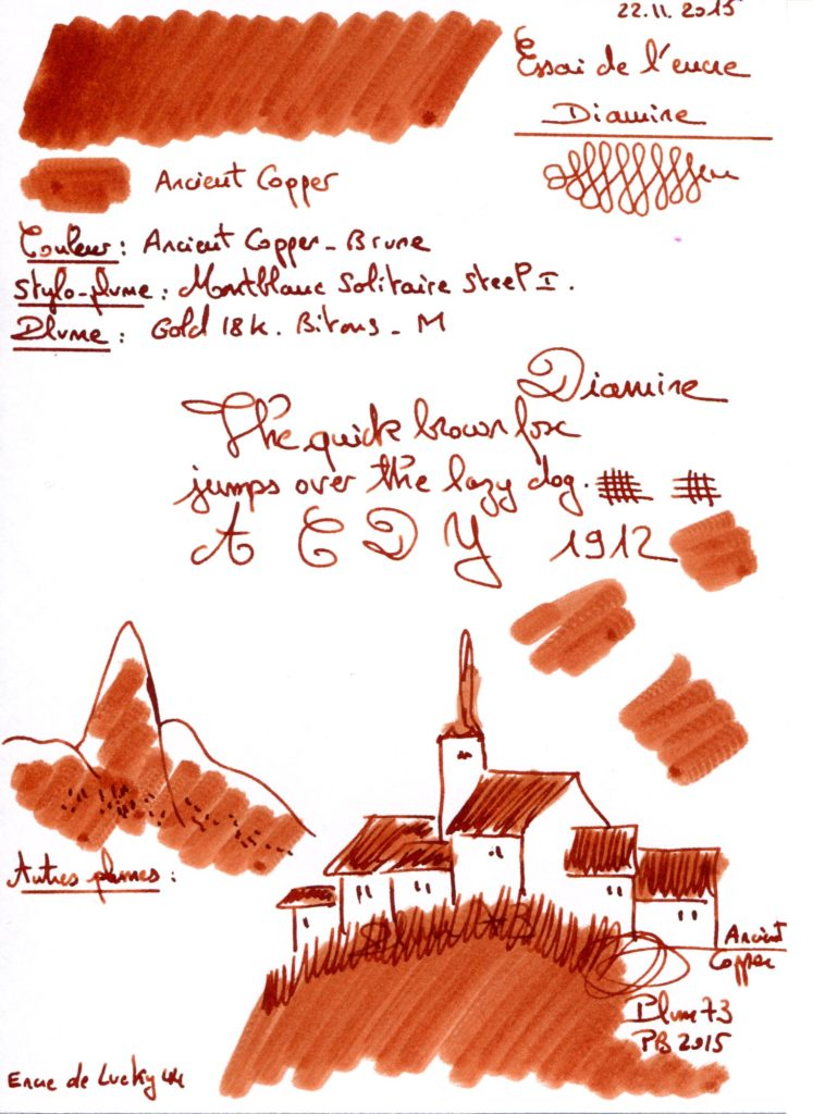 Ancient copper Ink Diamine