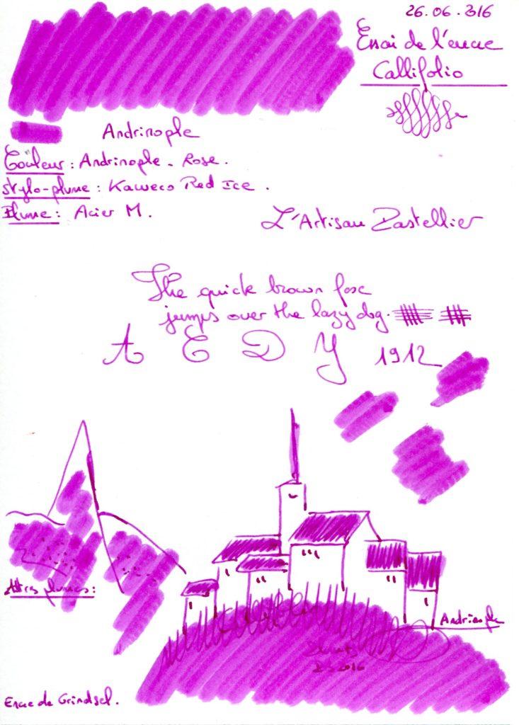 Andrinople ink Callifolio