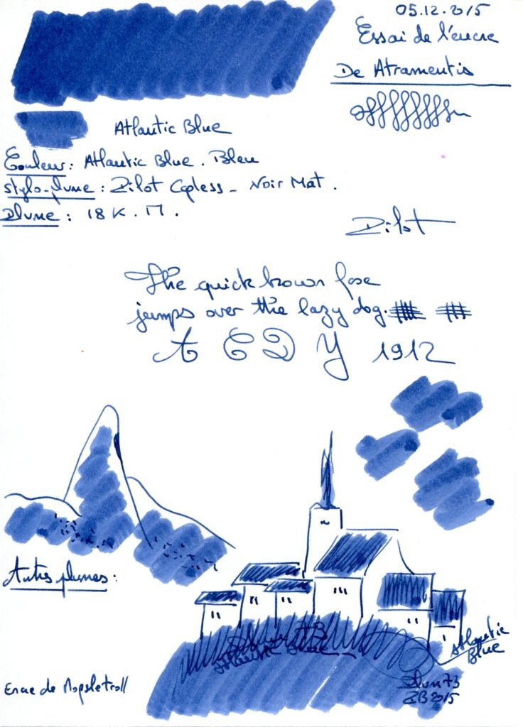 Atlantic blue Ink De Atramentis