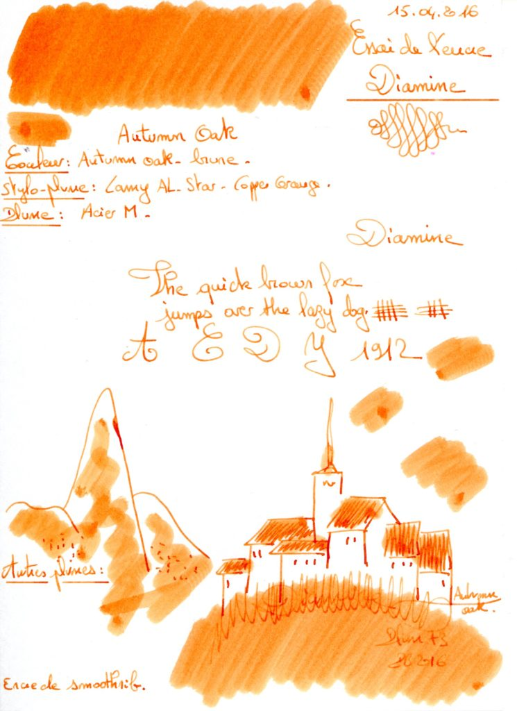 Autumn oak Ink diamine