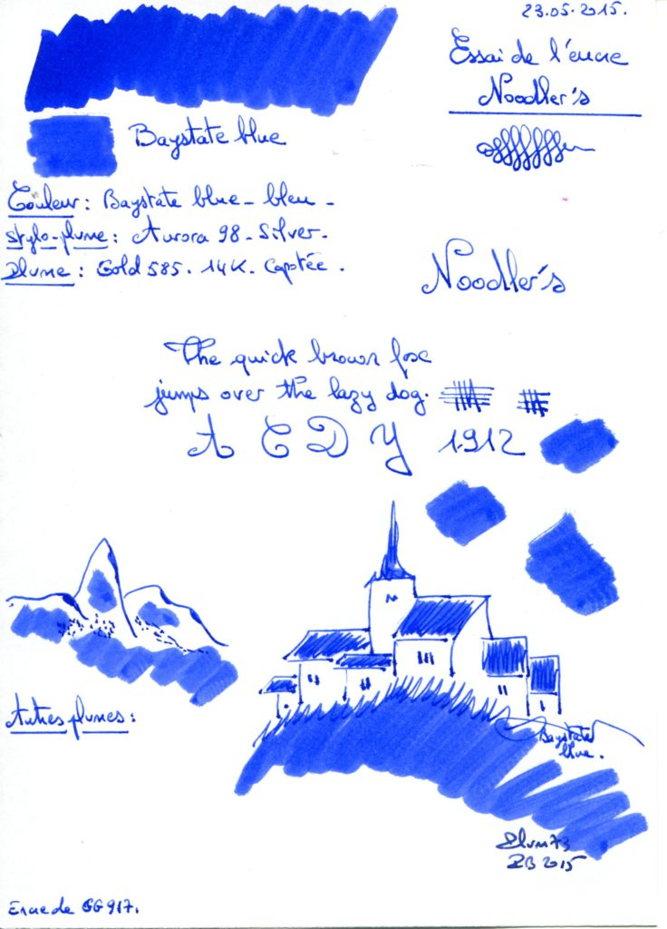 Baystate blue Ink Noodlers