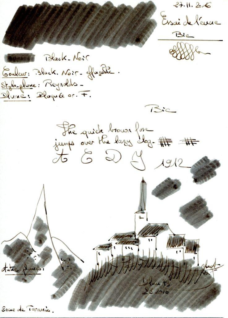 Black Ink Bic