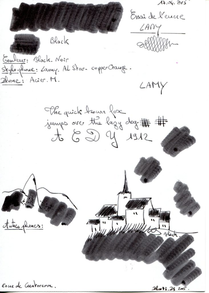 Black Ink Lamy