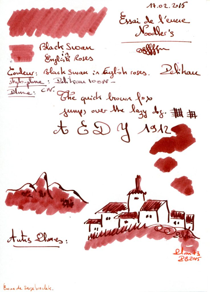 Black swan english roses Ink Noodler's