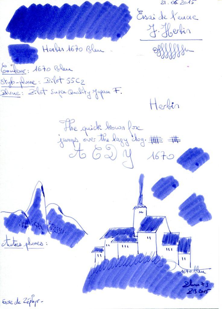 Bleu 1670 Ink J Herbin