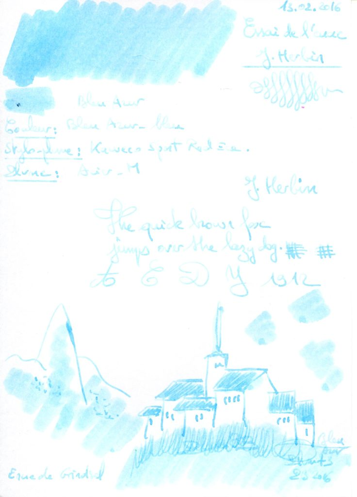 Bleu Azur Ink J Herbin