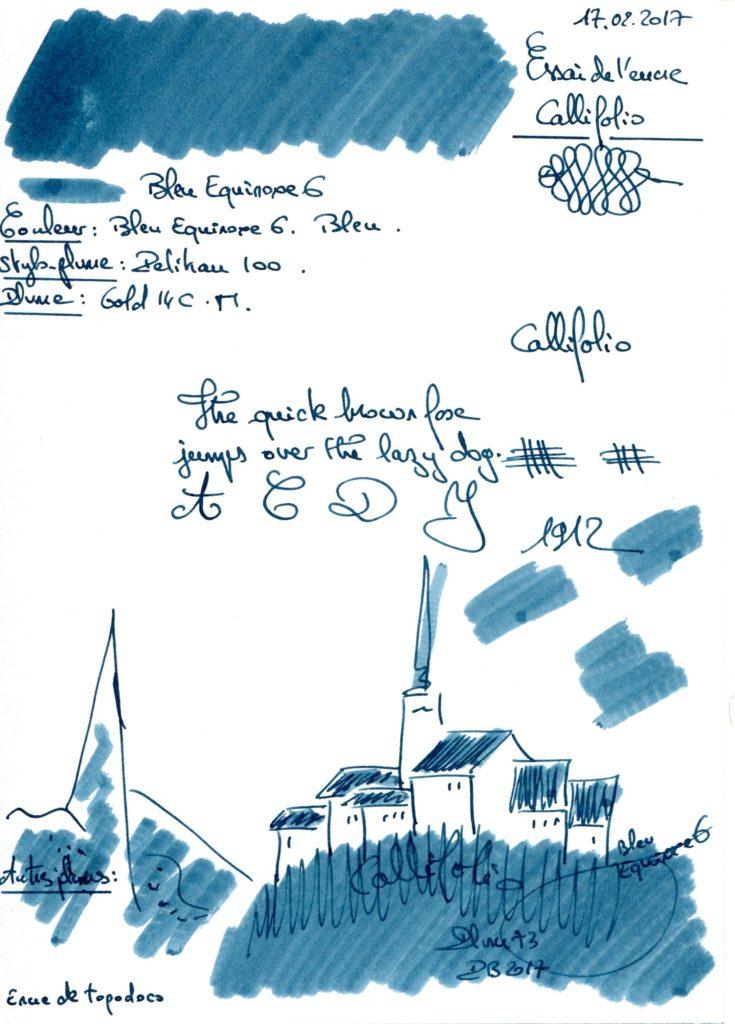 Bleu Equinoxe 6 Ink Callifolio