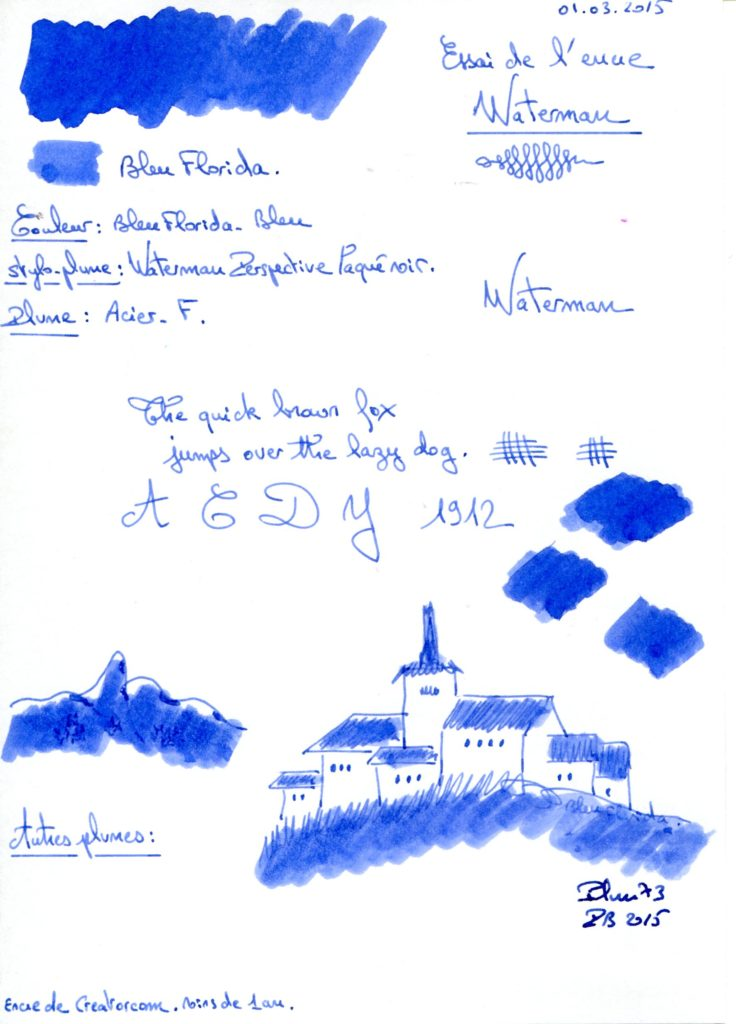Bleu Florida Ink Waterman