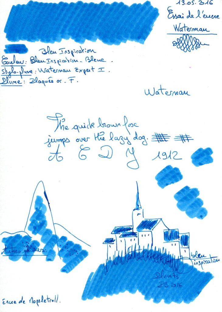 Bleu Inspiration Ink Waterman