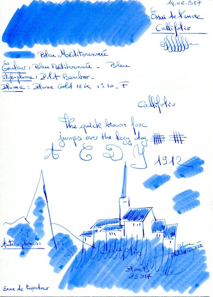 Bleu Mediterranee Ink Callifollio