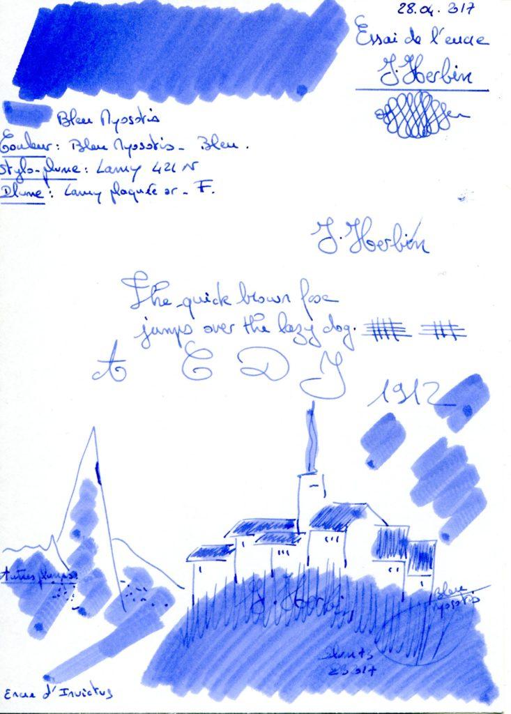 Bleu Myosotis Ink J Herbin