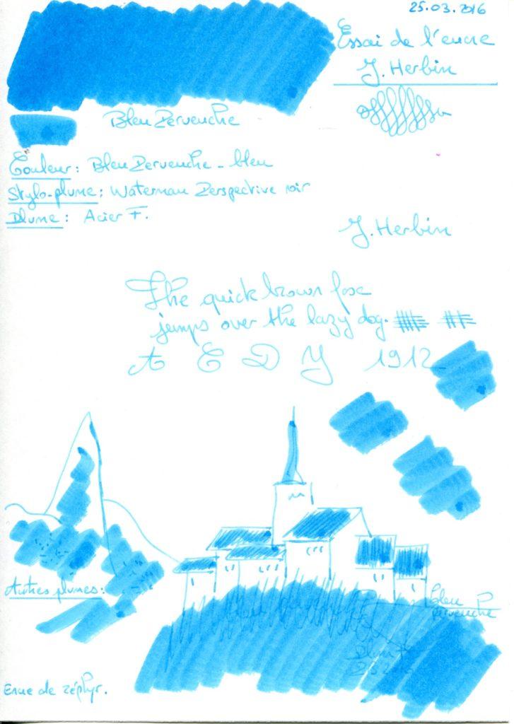 Bleu Pervenche Ink J Herbin