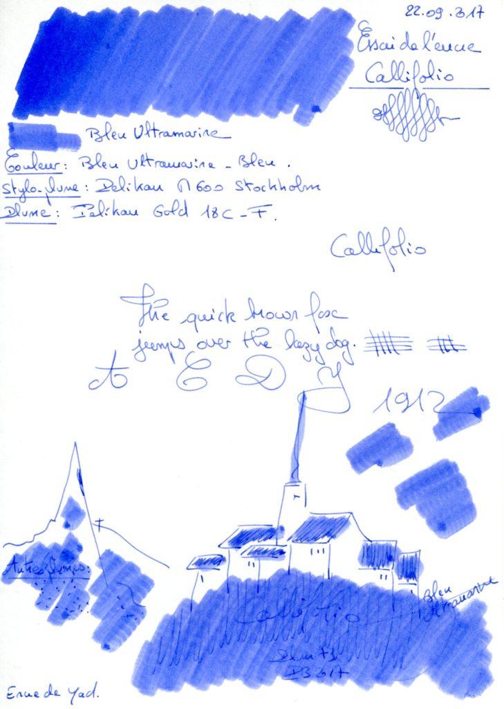 Bleu Ultramarine Ink Callifolio