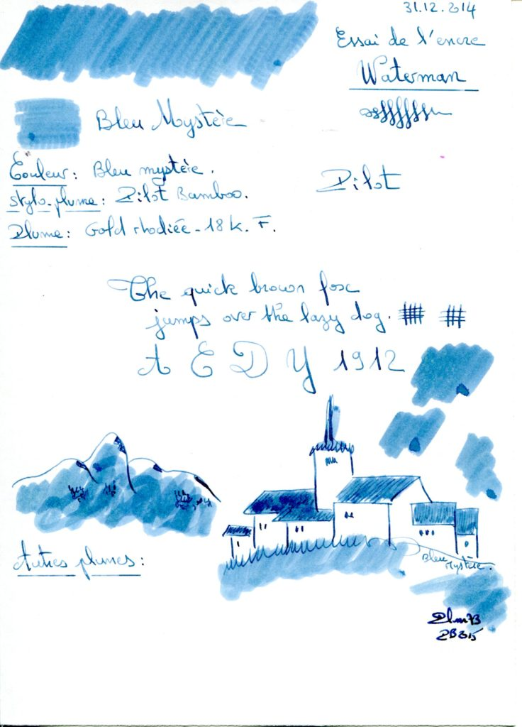 Bleu mystere Ink Waterman