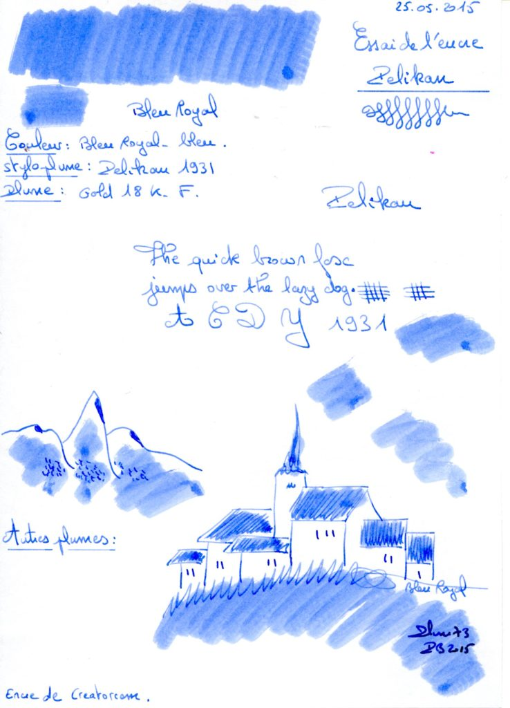 Bleu royal Ink Pelikan