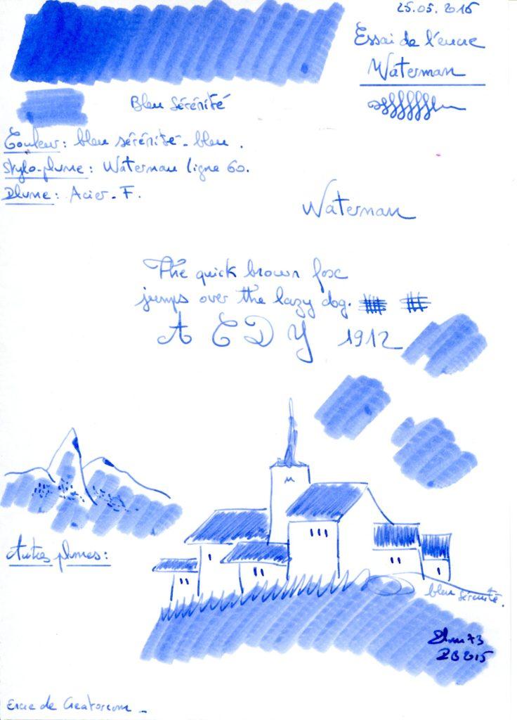 Bleu sérénité Ink Waterman