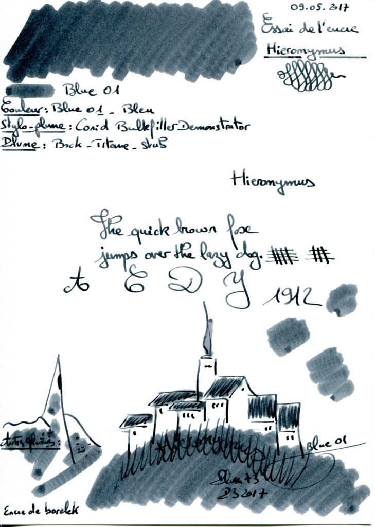 Blue 01 Ink Hieronymus