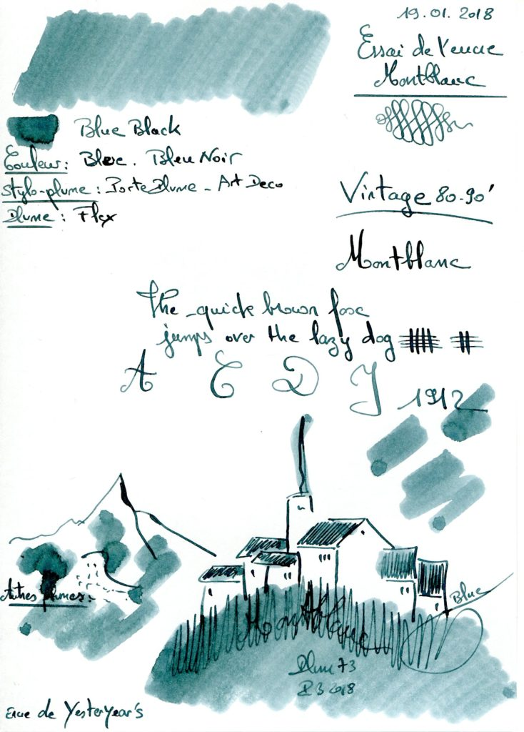Blue Black Ink Montblanc Vintage 80