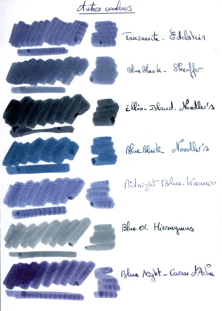Blue Black ink 2