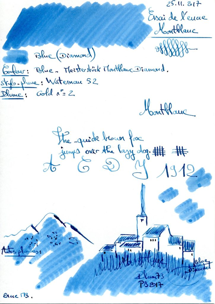 Blue Diamond Ink Montblanc