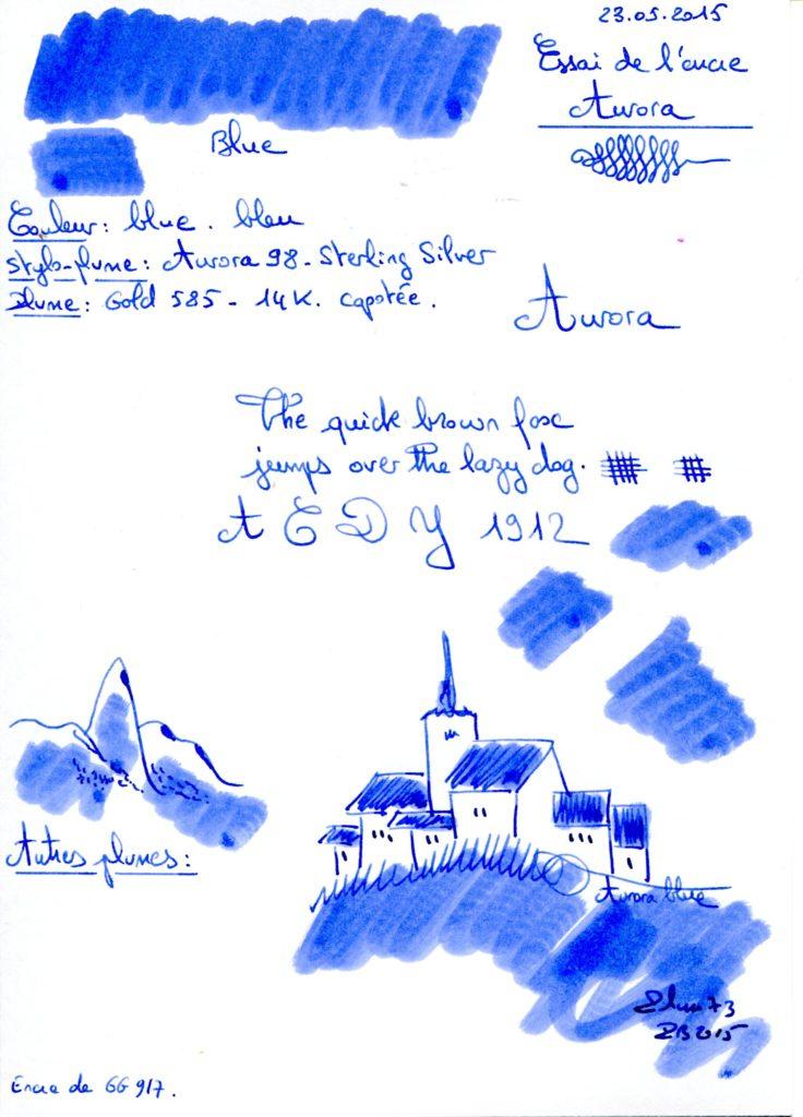 Blue Ink Aurora