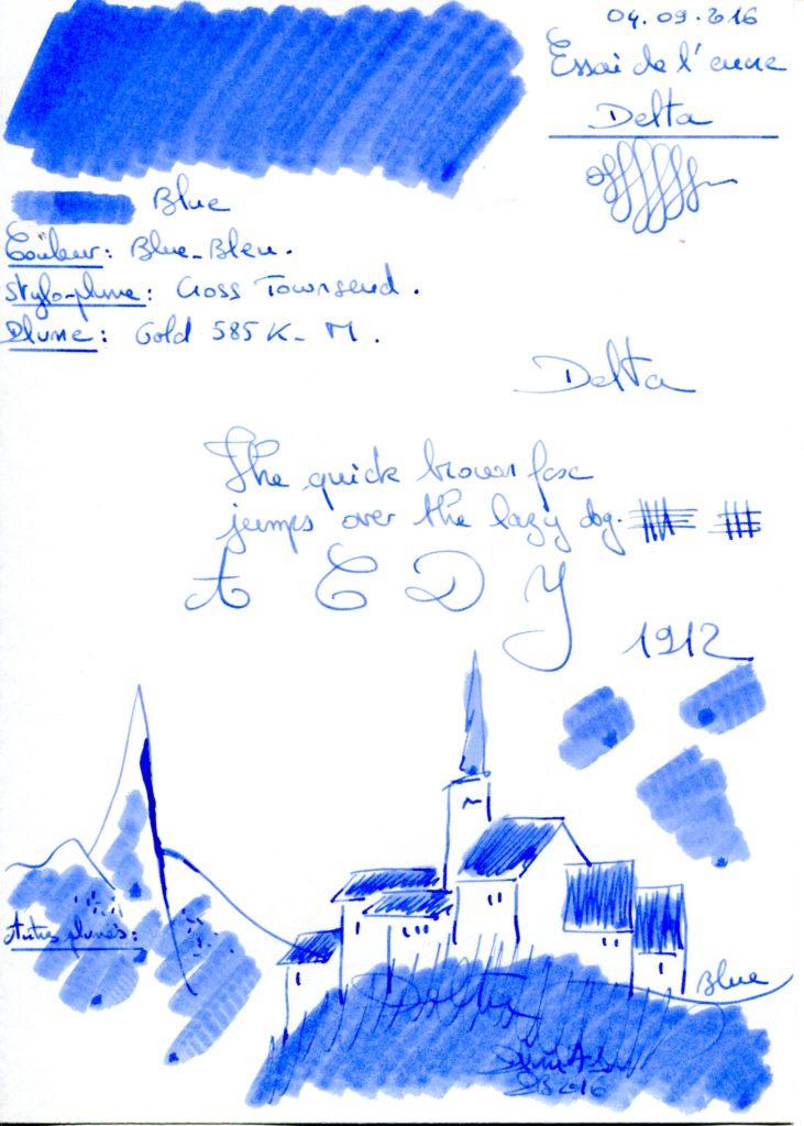 Blue Ink Delta
