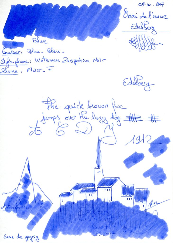 Blue Ink Edeleberg