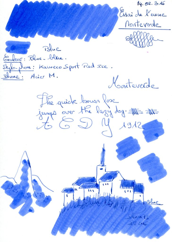 Blue Ink Monteverde