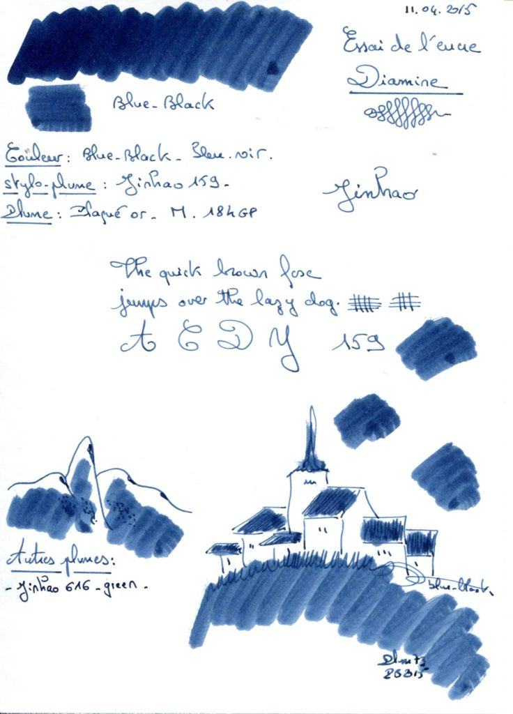 Blue black Ink Diamine