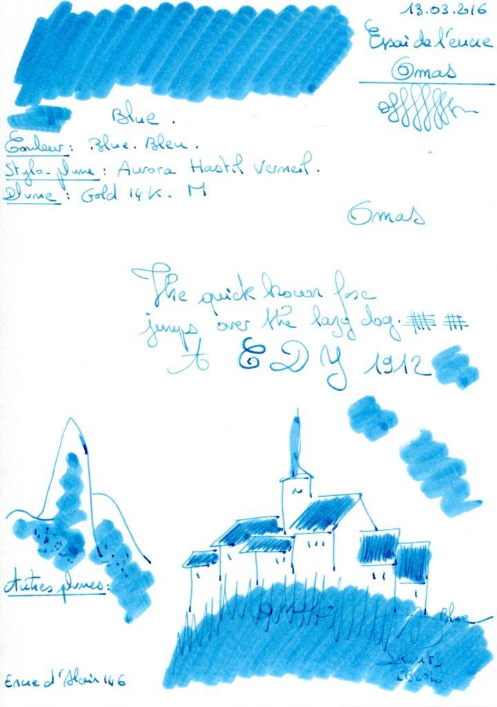Blue ink Omas