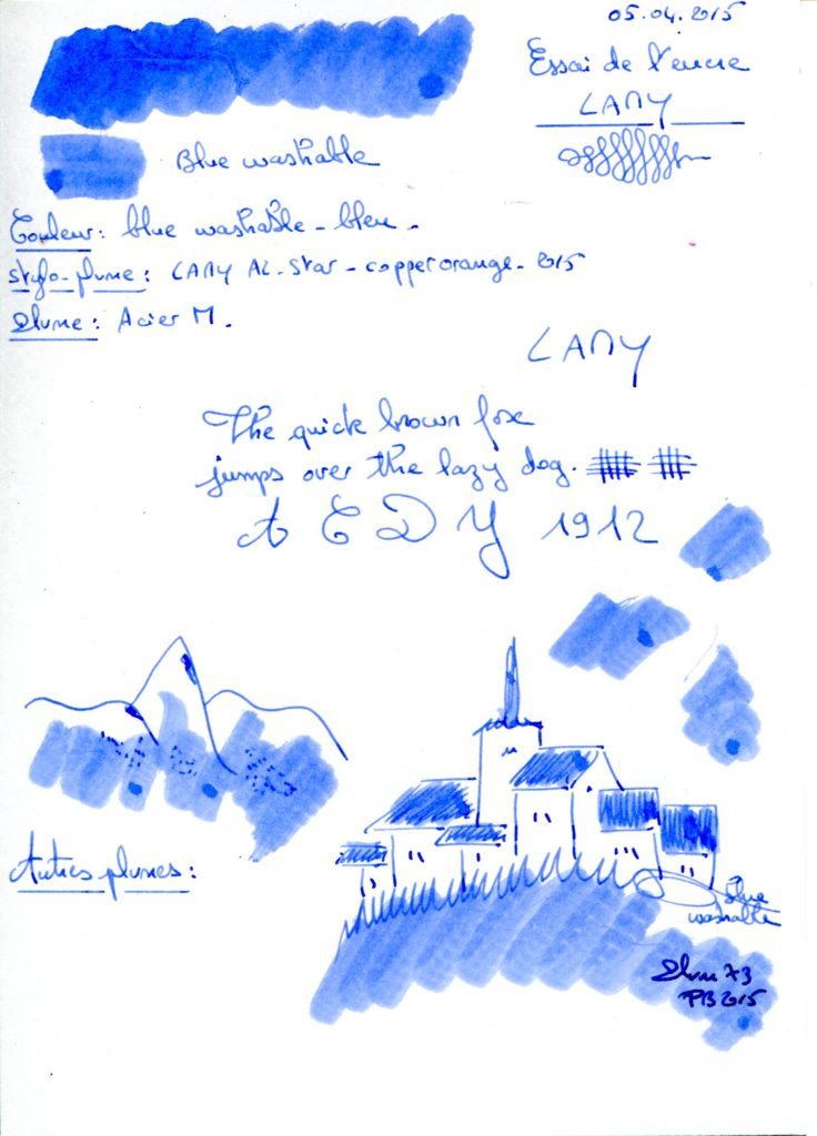 Blue washable Ink Lamy