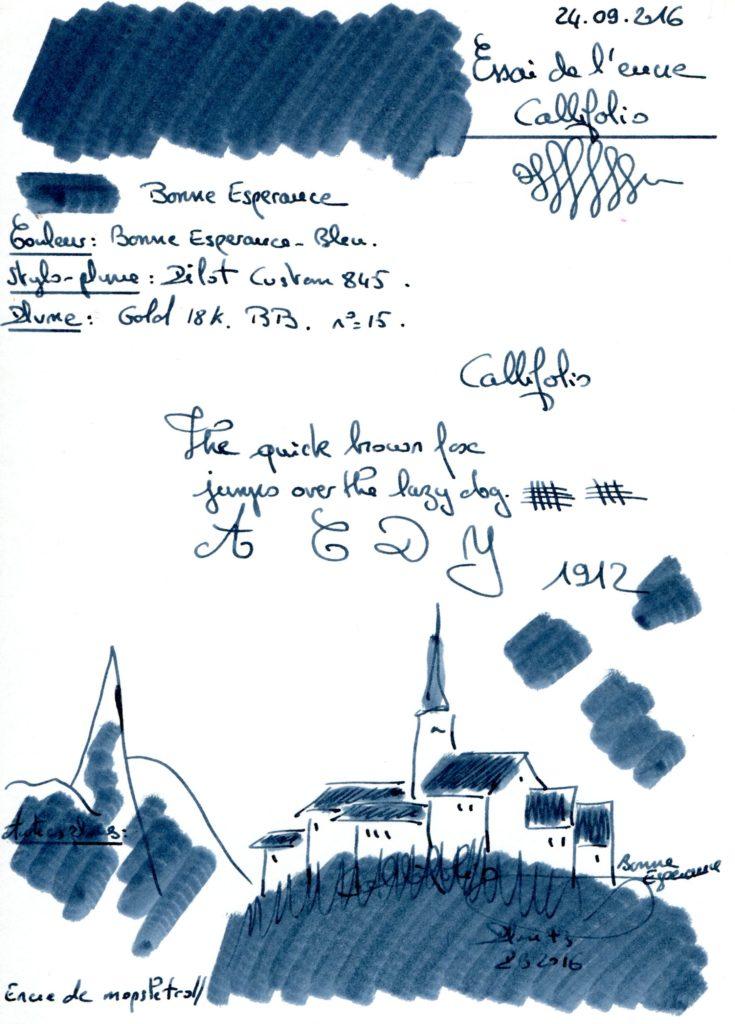 Bonne Esperance Ink Callifolio