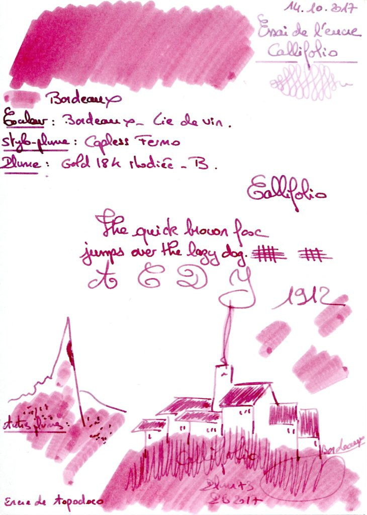 Bordeaux Ink Callifolio