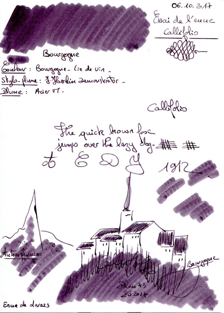 Bourgogne Ink Callifolio