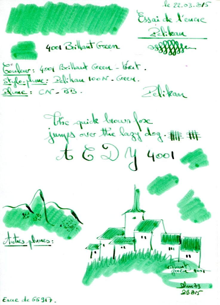 Brillant green Ink Pelikan