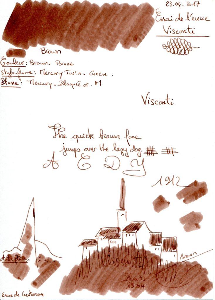 Brown Ink Visconti