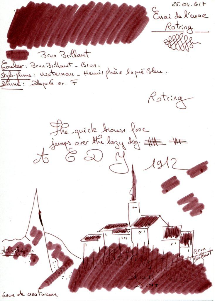 Brun Brillant Ink Rotring