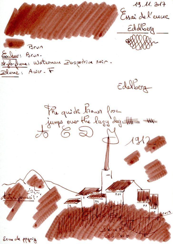 Brun Ink Edelberg