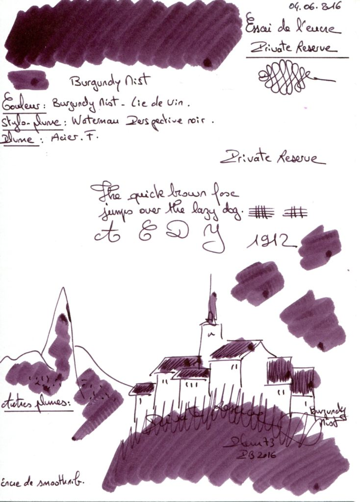 Burgundy Mist Ink Private Reserve