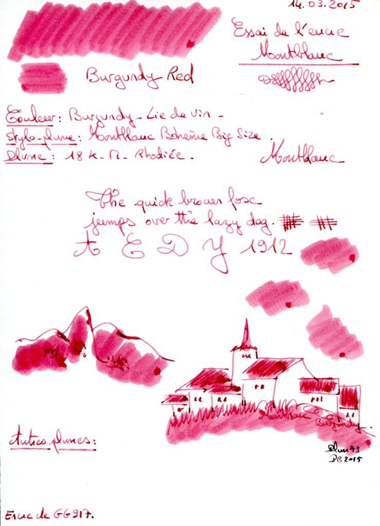 Burgundy Red Ink montblanc