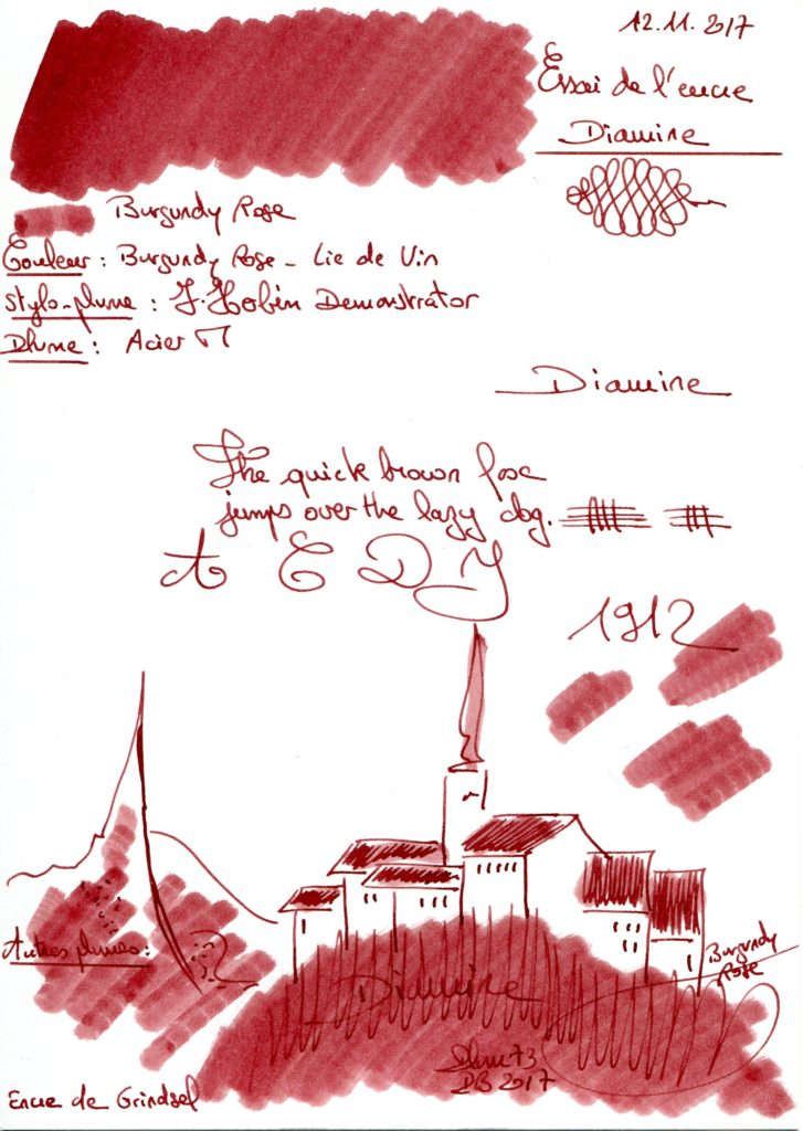 Burgundy rose Ink Diamine