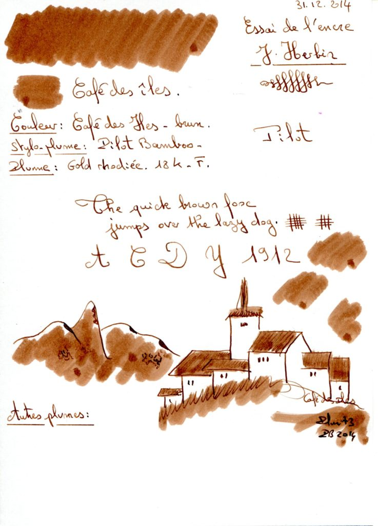 Cafe des iles Ink J Herbin