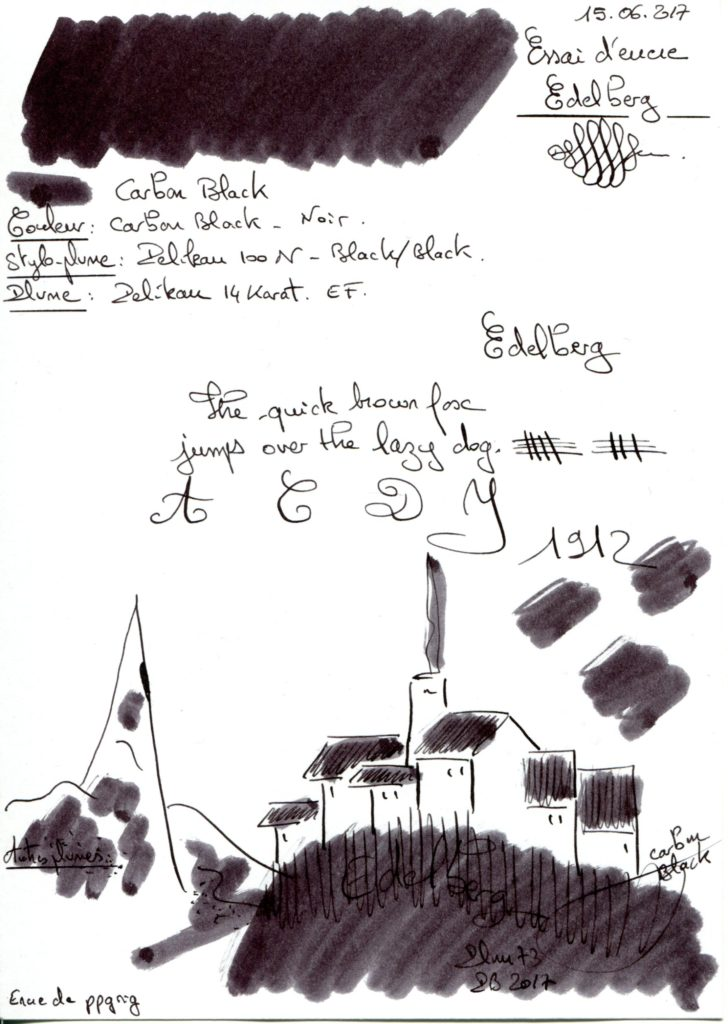 Carbon Black Ink Edelberg