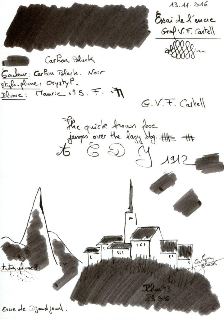 Carbon Black Ink Graf Von Faber Castell