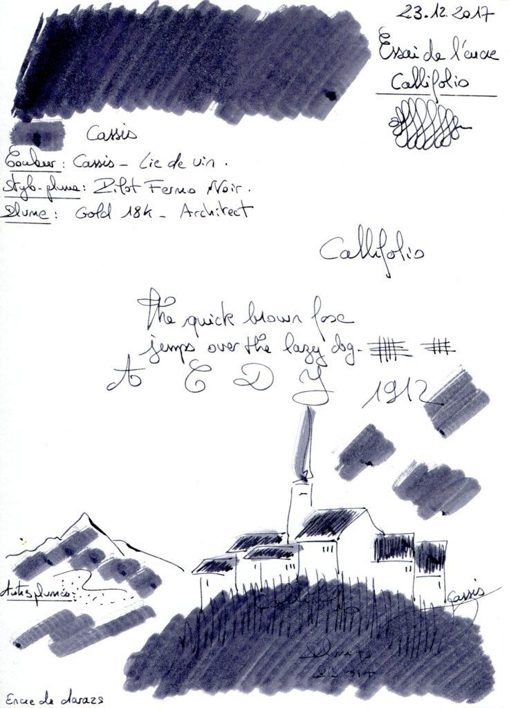 Cassis Ink Callifolio